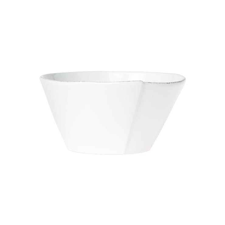 Lastra White Medium Stacking Serving Bowl by VIETRI