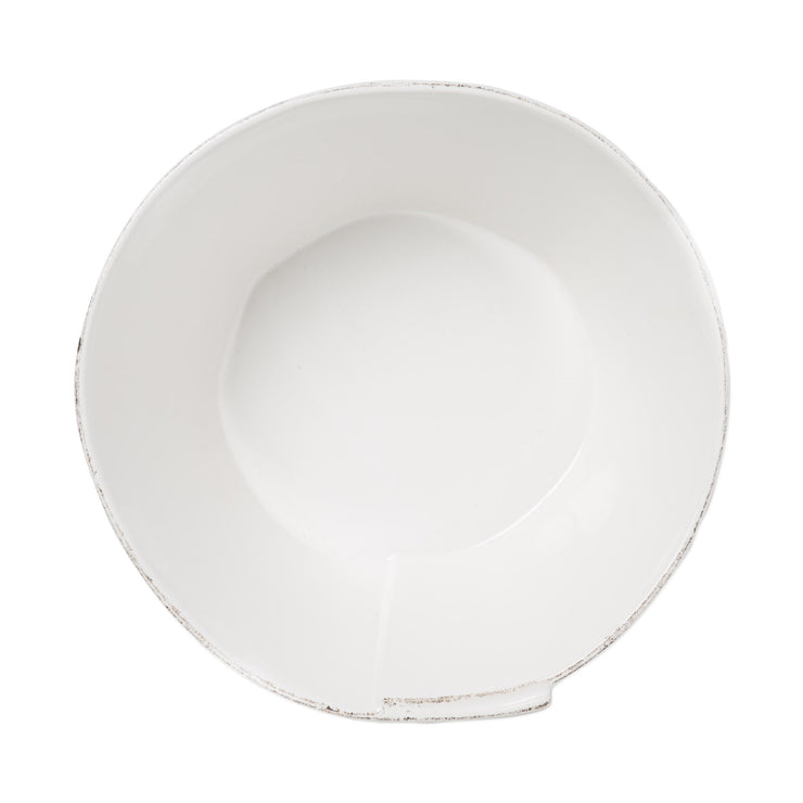 Lastra White Large Stacking Serving Bowl by VIETRI