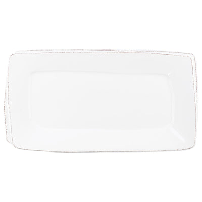 Lastra White Rectangular Platter by VIETRI
