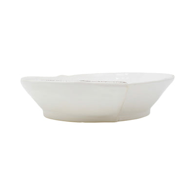Lastra White Medium Shallow Serving Bowl by VIETRI
