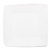 Lastra White Square Platter by VIETRI