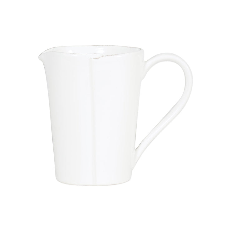 Lastra White Pitcher by VIETRI