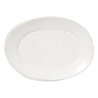 Lastra White Turkey Platter by VIETRI