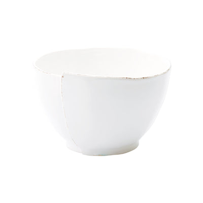 Lastra White Deep Serving Bowl by VIETRI