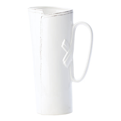 Lastra White Tavern Pitcher by VIETRI
