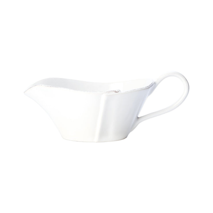 Lastra White Sauce Server by VIETRI