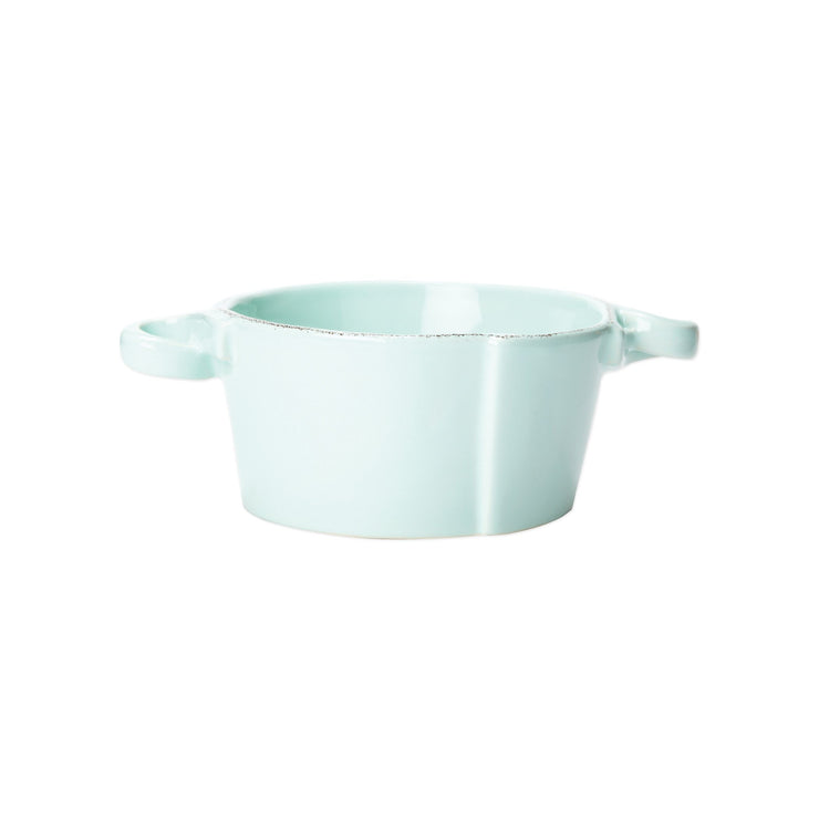 Lastra Small Handled Bowl by VIETRI