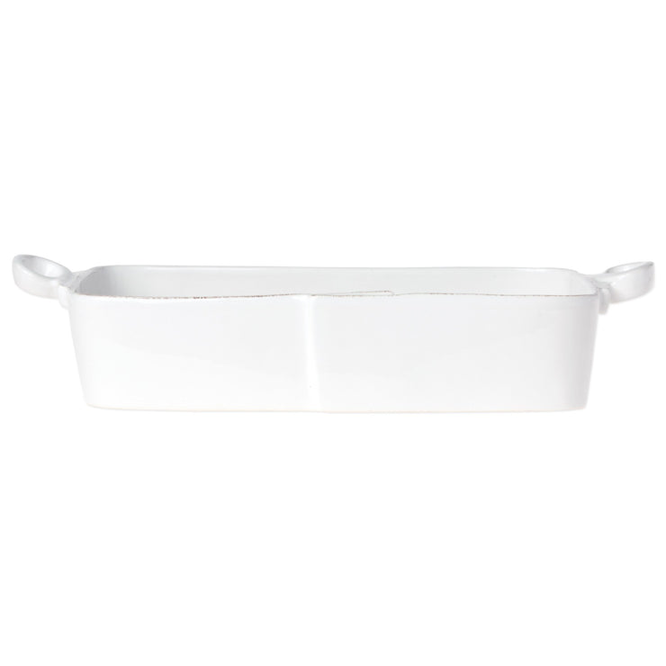 Lastra White Rectangular Baker by VIETRI