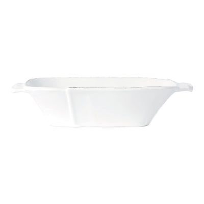 Lastra White Medium Oblong Au Gratin by VIETRI