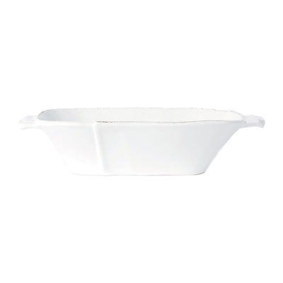 Lastra White Small Oblong Au Gratin by VIETRI