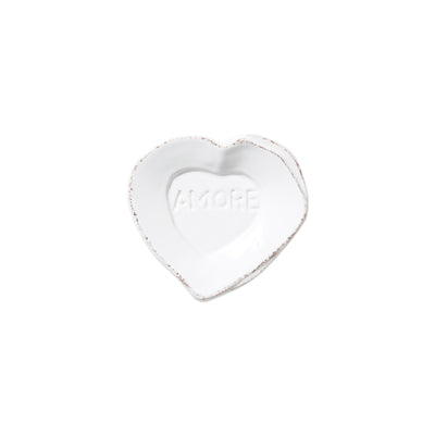 Lastra Heart Mini Amore Plate by VIETRI
