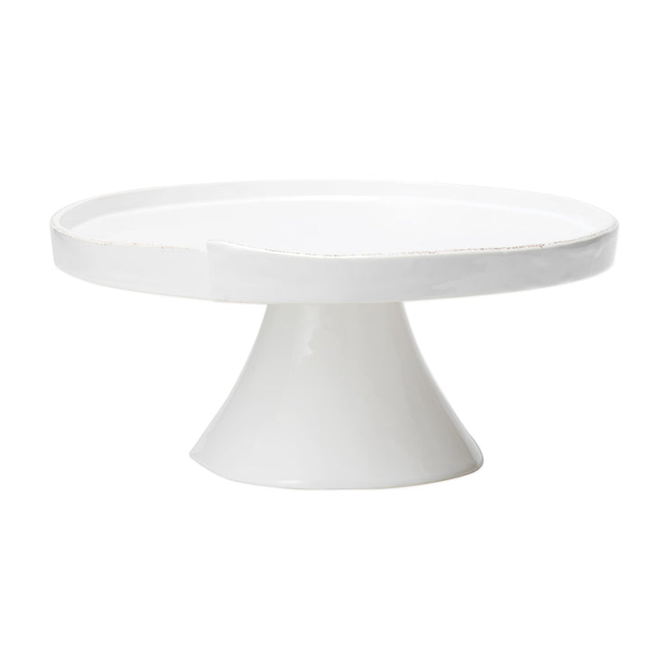 Lastra White Large Cake Stand by VIETRI