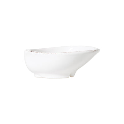 Lastra White Medium Oval Bowl by VIETRI