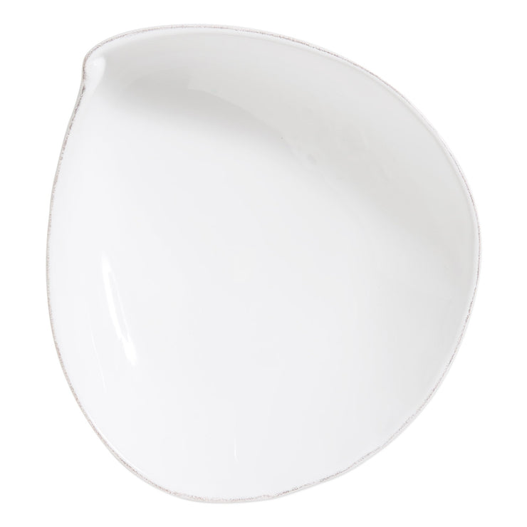 Lastra White Large Oval Bowl by VIETRI