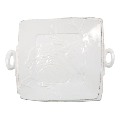 Lastra Winterland Handled Square Platter by VIETRI