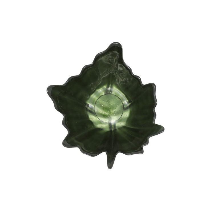 Leaf Glass Green Small Bowl by VIETRI
