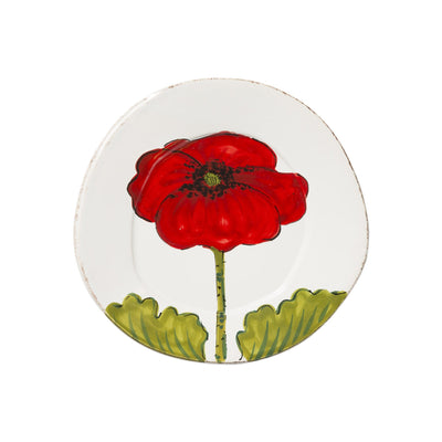 Lastra Poppy Salad Plate by VIETRI