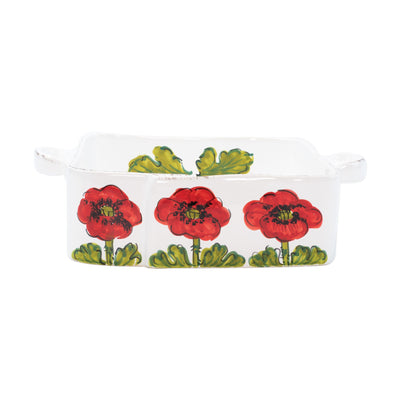 Lastra Poppy Square Baker by VIETRI