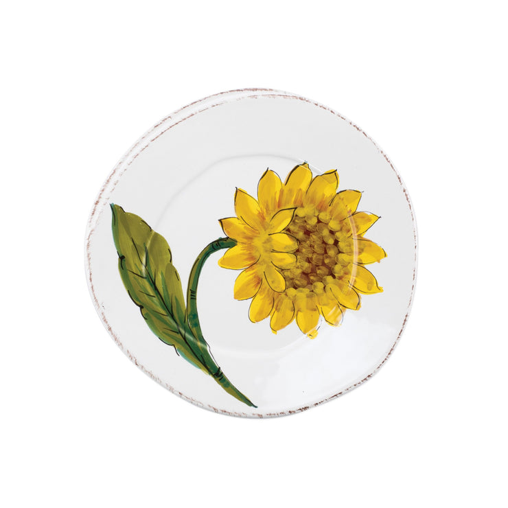 Lastra Sunflower Salad Plate by VIETRI