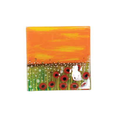 Glass Trays Poppies Tray by VIETRI