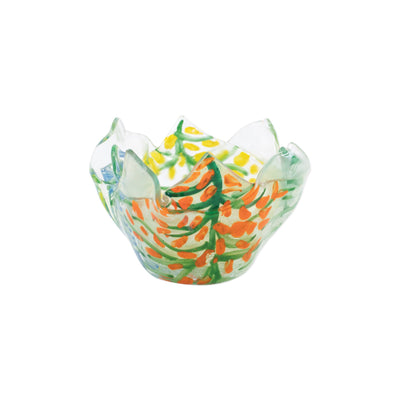 Glass Votives Colorful Leaves Votive by VIETRI