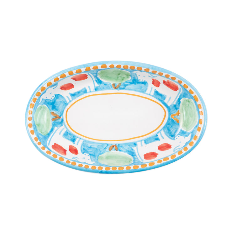 Campagna Mucca Small Oval Tray by VIETRI
