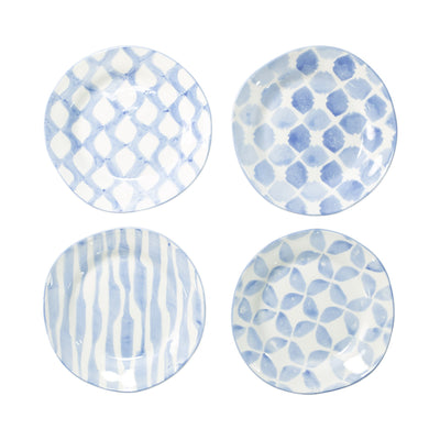 Modello Assorted Salad Plates - Set of 4 by VIETRI