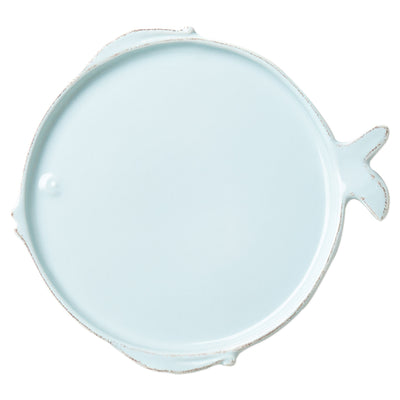 Melamine Lastra Fish Aqua Dinner Plate by VIETRI
