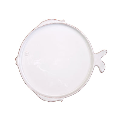 Melamine Lastra Fish White Salad Plate by VIETRI