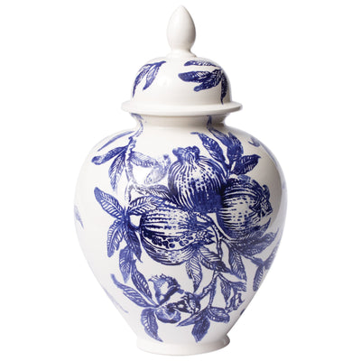 Melagrana Blu Large Ginger Jar by VIETRI