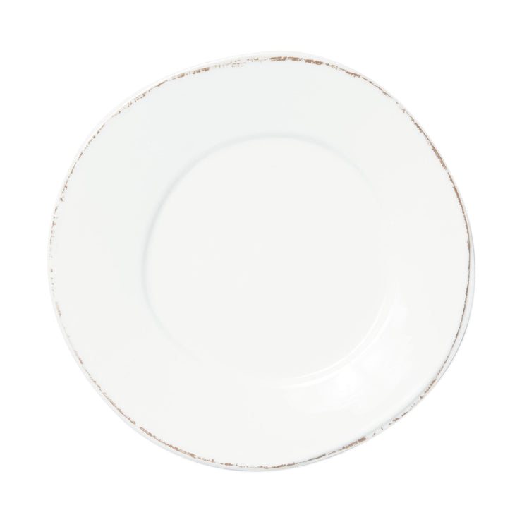 Melamine Lastra White Dinner Plate by VIETRI
