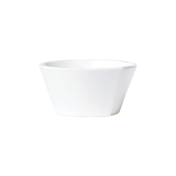Melamine Lastra White Stacking Cereal Bowl by VIETRI