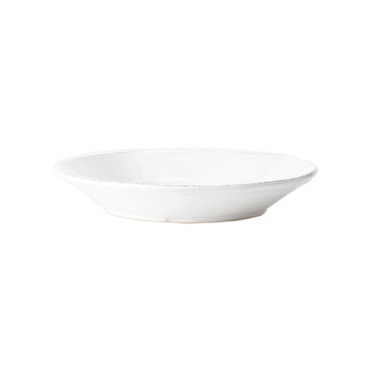 Melamine Lastra White Shallow Bowl by VIETRI