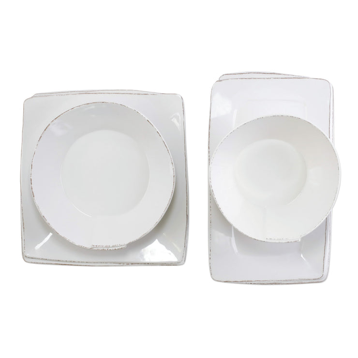 Melamine Lastra White 4-Piece Serveware Set by VIETRI