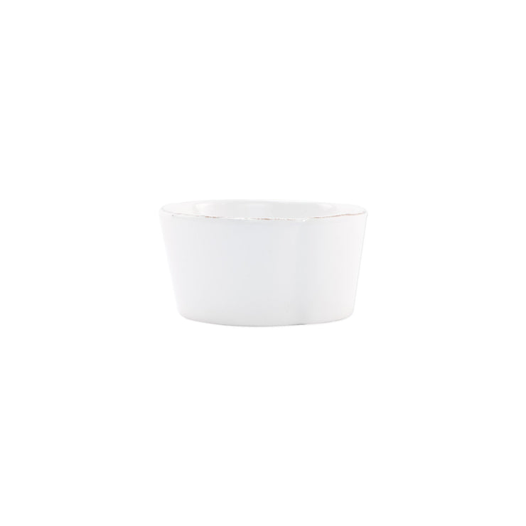 Melamine Lastra White Condiment Bowl by VIETRI