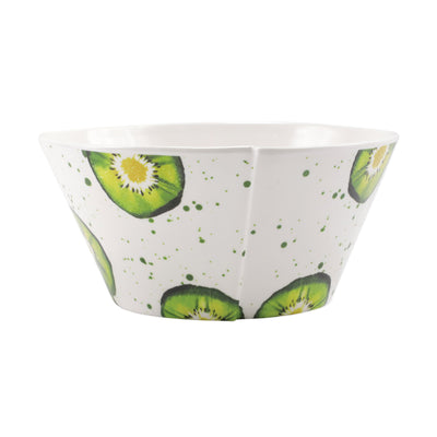 Melamine Fruit Kiwi Large Stacking Serving Bowl by VIETRI