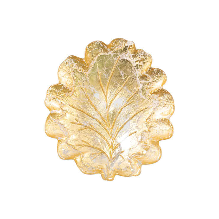 Moon Glass Leaf Salad Plate by VIETRI