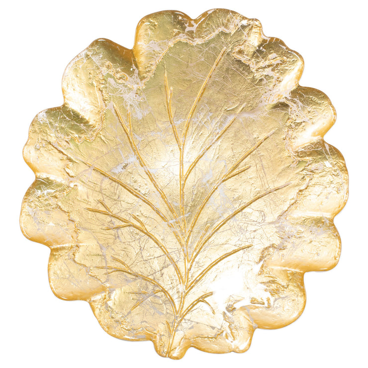 Moon Glass Leaf Platter by VIETRI