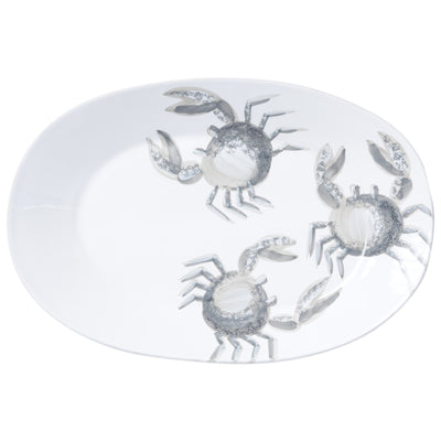Marina Crab Large Oval Platter by VIETRI