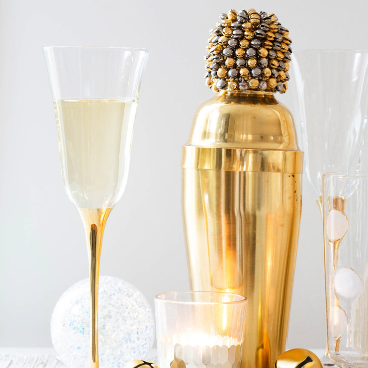 Optical Gold Stem Champagne Glass