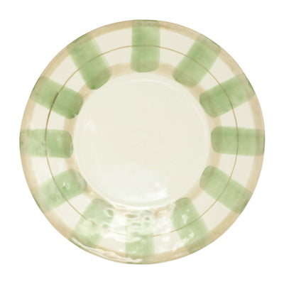 Olive Striped Service Plate/Charger by VIETRI