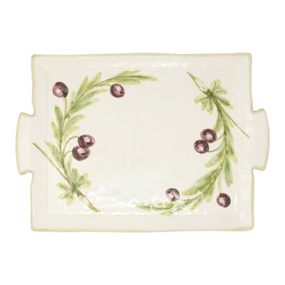 Olive Handled Rectangular Platter by VIETRI