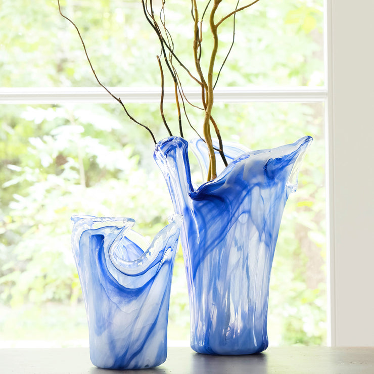 Onda Glass Cobalt Small Vase