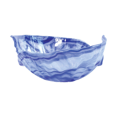 Onda Glass Cobalt Round Bowl by VIETRI
