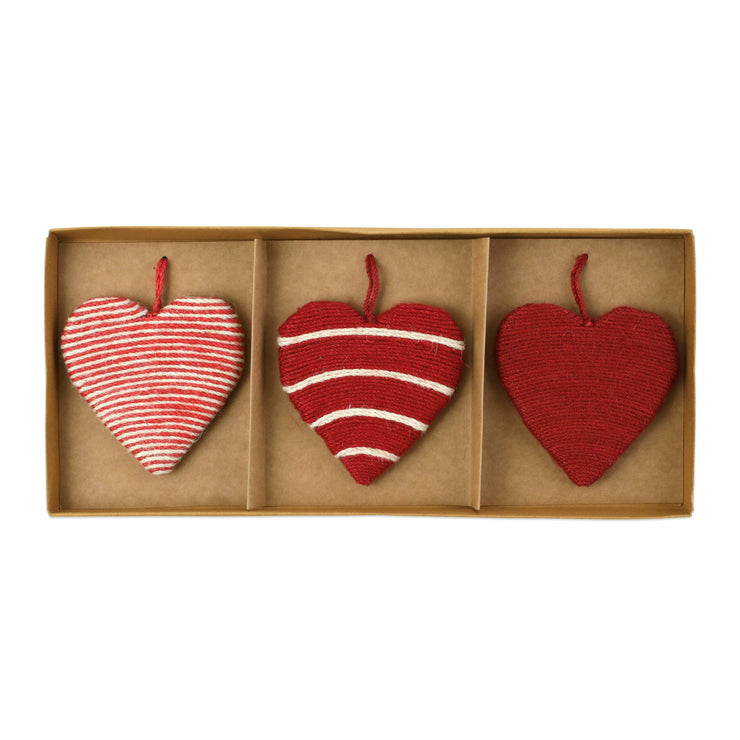 Ornaments Assorted Heart Ornaments - Set of 3 by VIETRI