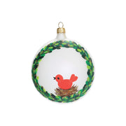 Ornaments Wreath w/ Red Bird Ornament by VIETRI