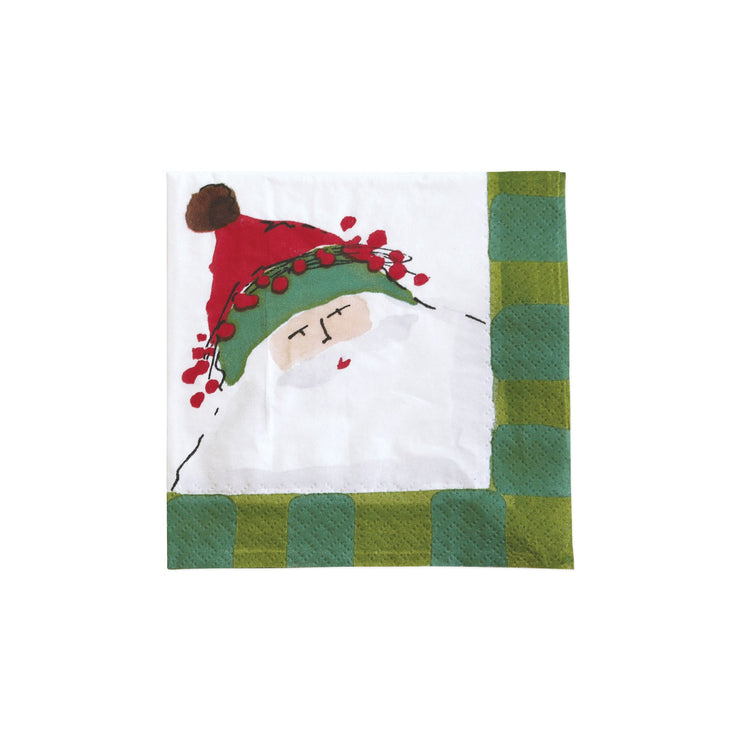 Old St Nick Cocktail Napkin - Green by VIETRI