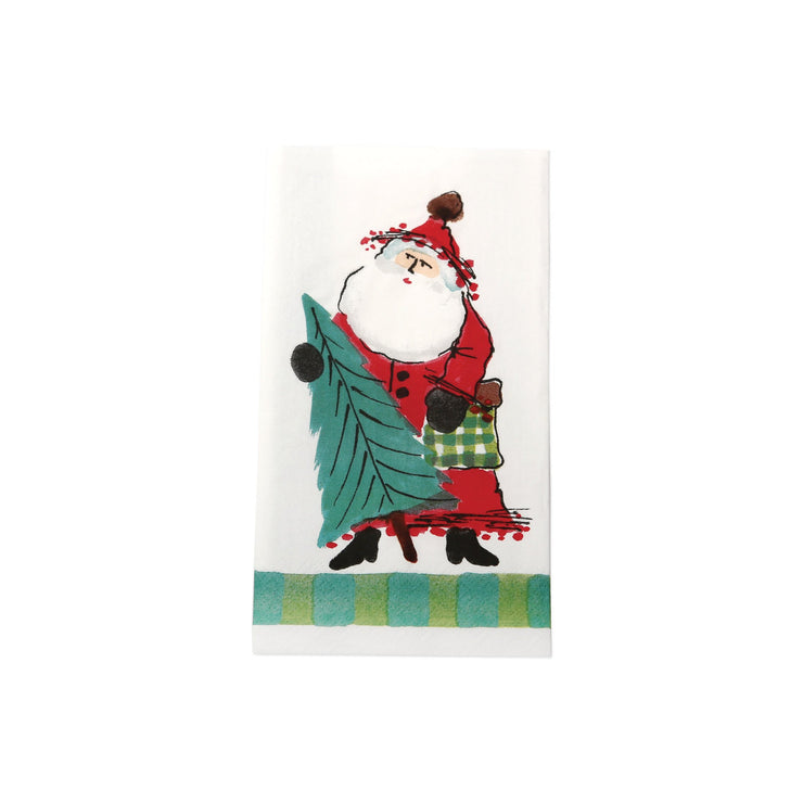 Old St Nick Paper Guest Towels - Green by VIETRI
