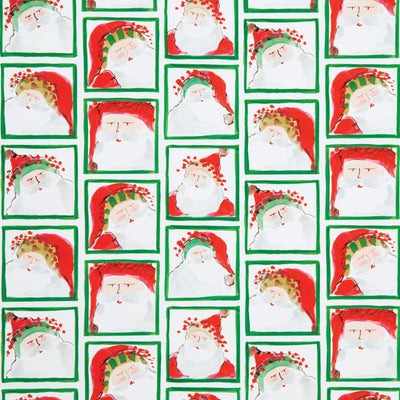 Old St Nick Santa Face Gift Wrap Roll by VIETRI