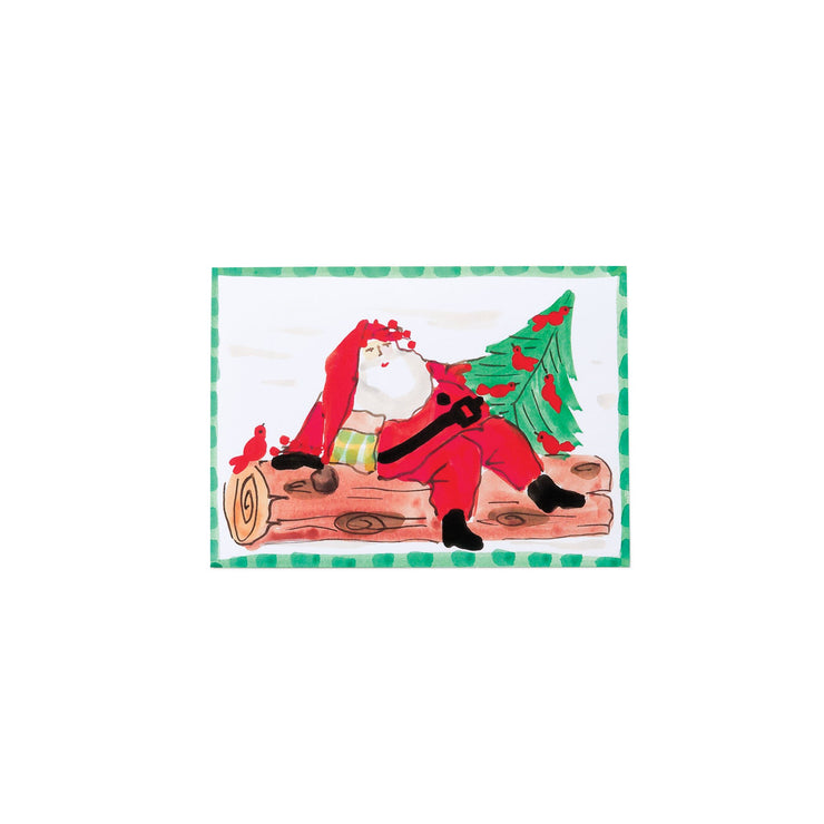 Old St Nick Santa Winter's Resting Greeting Cards by VIETRI
